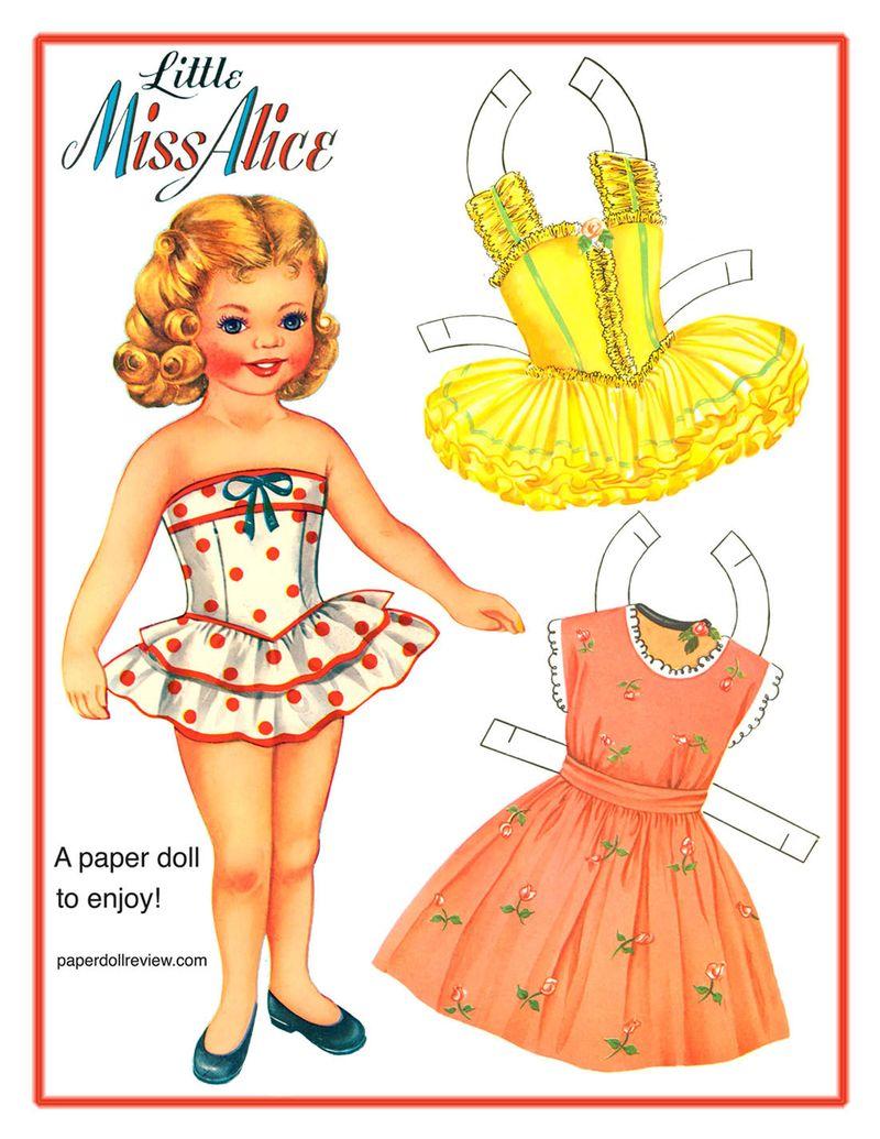 paper Little miss alice
