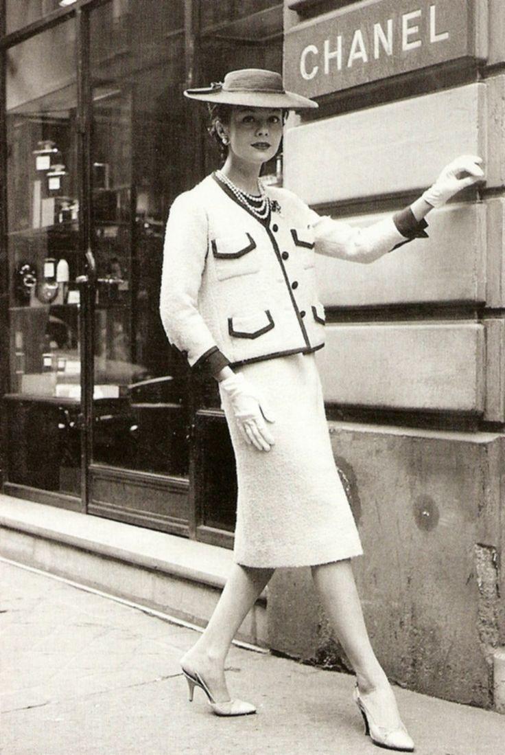 traje sastre chanel 1955