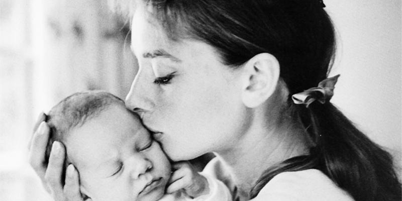 Audrey y su bebé