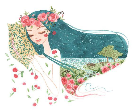 corona de flores azul